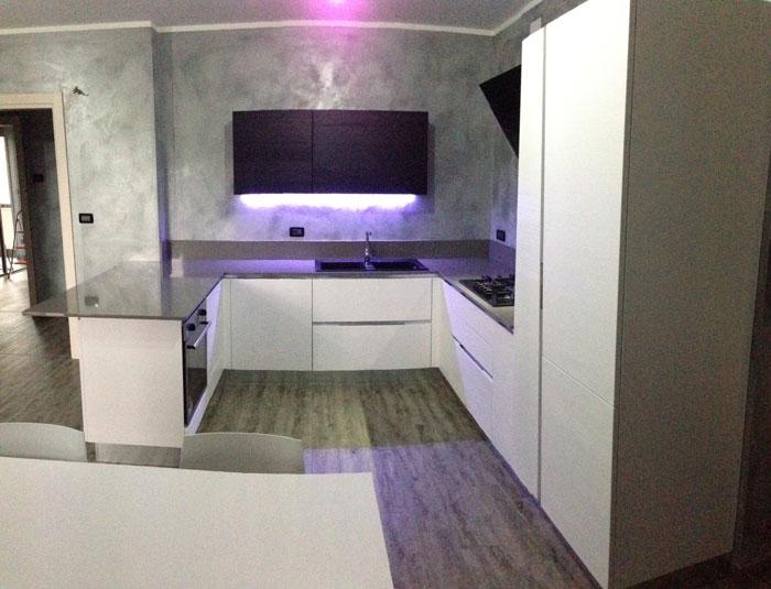 Arrex anice una cucina moderna con bancone penisola for Bancone con angolo