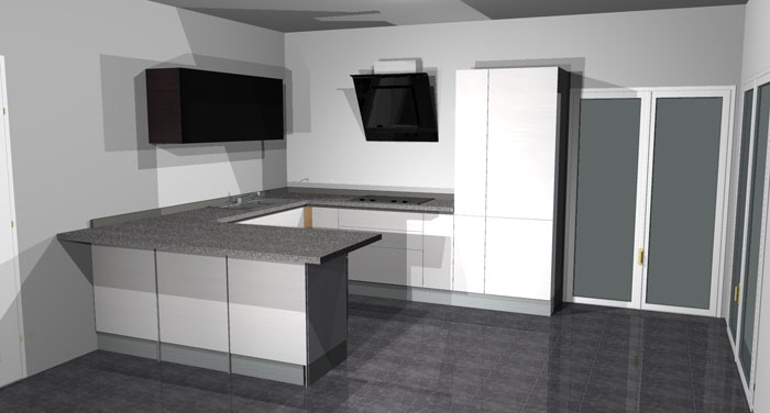 Arrex anice una cucina moderna con bancone penisola - Cucina con bancone ...
