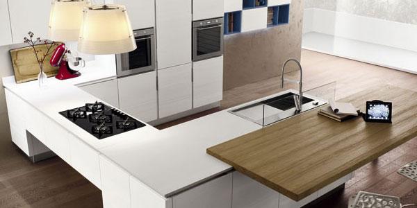 cucina moderna con bancone penisola la realizzazione di questa cucina ...