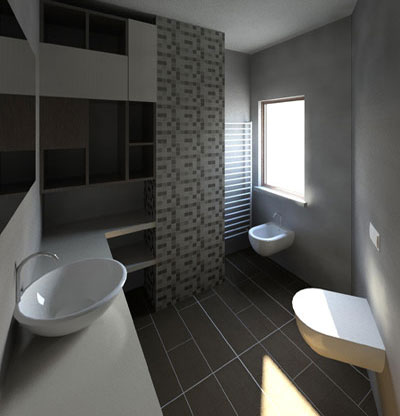 Bagno di servizio for Arredamento bagno moderno piccolo