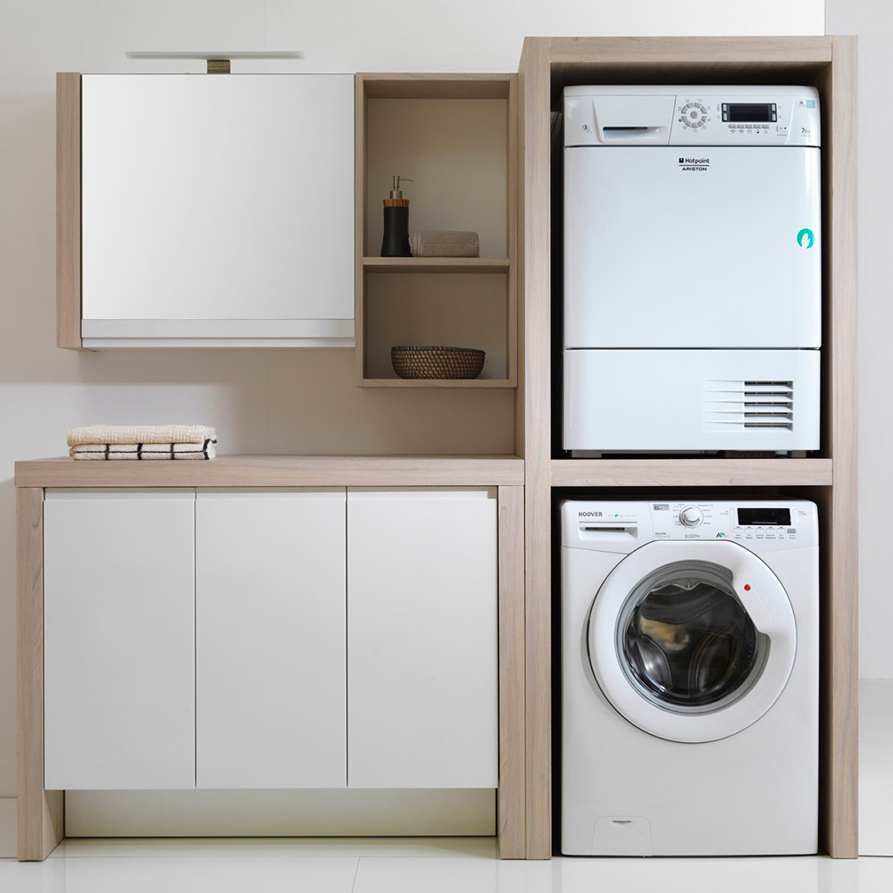 Colonna Per Lavatrice E Asciugatrice 5 idee per inserire la lavatrice in un bagno piccolo
