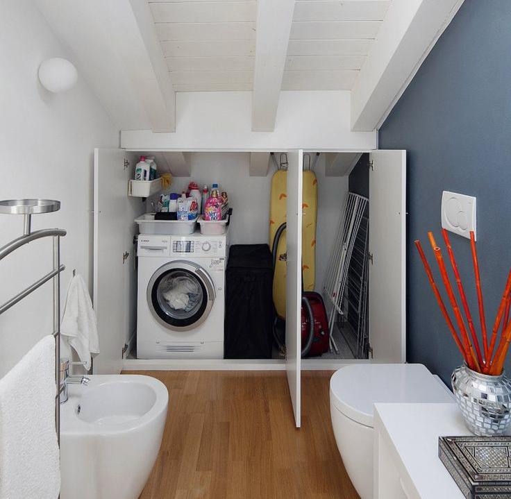 Arredare bagno piccolo con lavatrice for Arredare piccolo bagno
