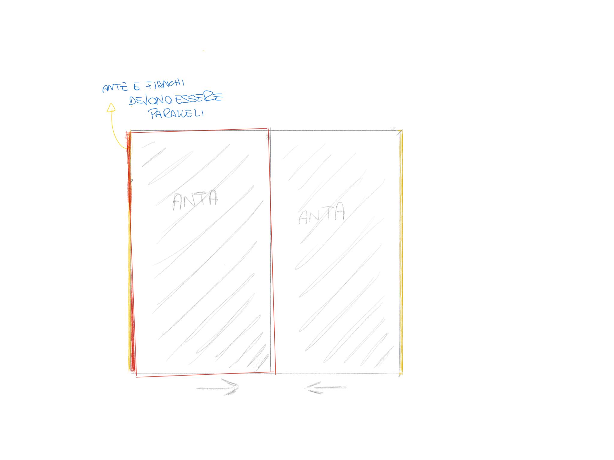 Come regolare le ante di un armadio scorrevole