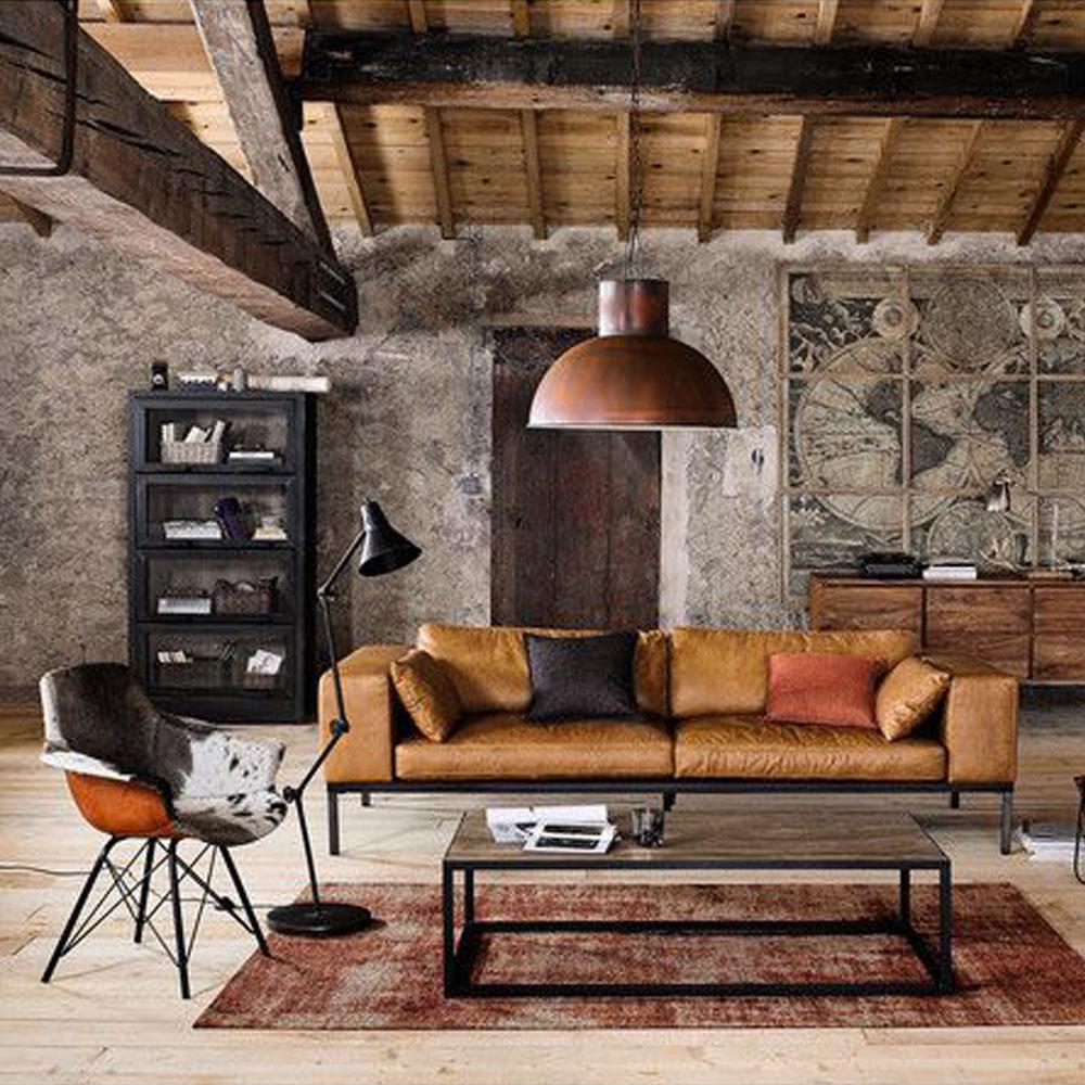 Idee Ristrutturazione Cucina Soggiorno come creare un soggiorno in stile industriale