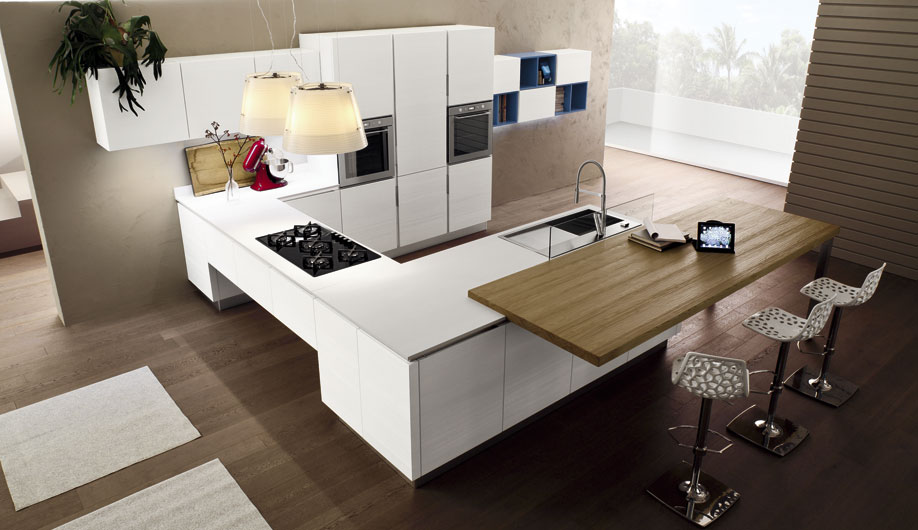 Arrex anice una cucina moderna con bancone penisola - Cucine moderne penisola ...