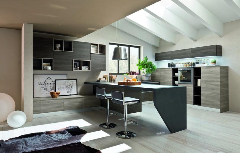 Arrex Papaia: una cucina moderna e spaziosa