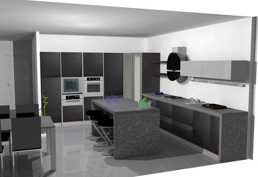 Arrex Avena: una cucina moderna con isola