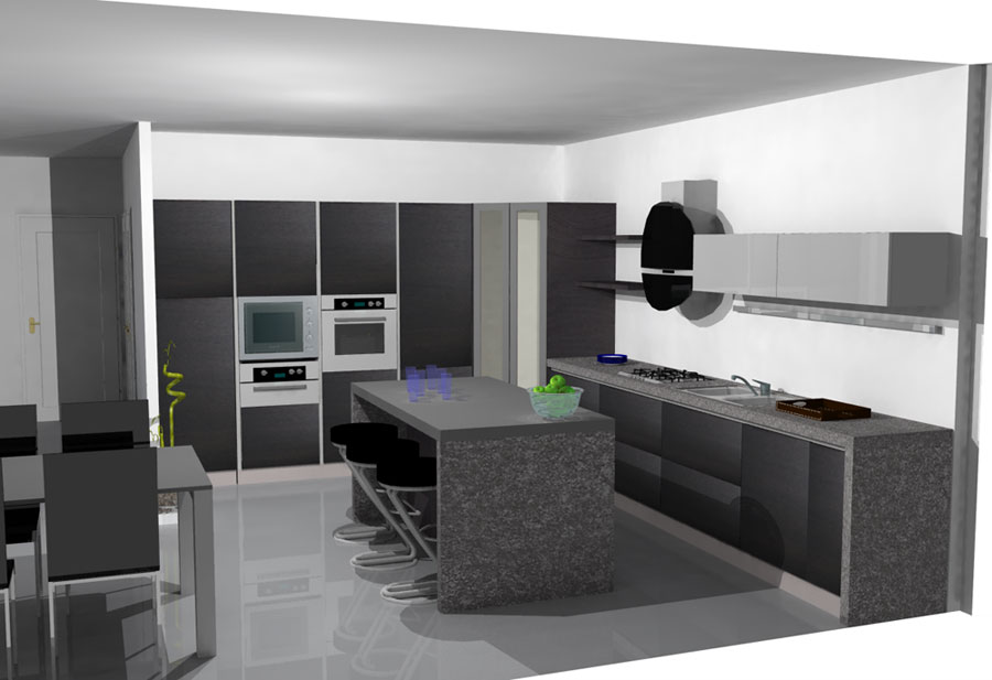 Arrex avena una cucina moderna con isola - Cucina moderna con isola ...