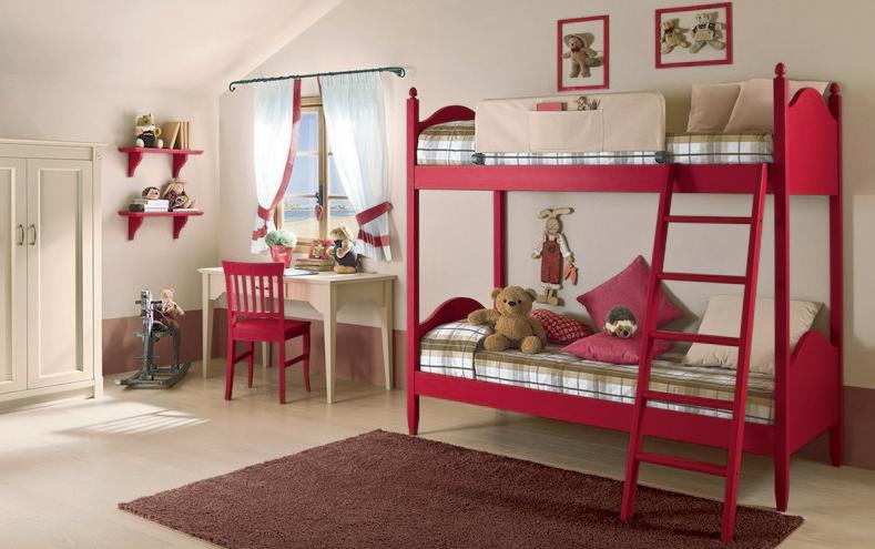 Camera-da-letto-country-Callesella-letto-castello
