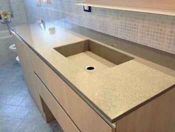 top agglomerato quarzo cucina bagno
